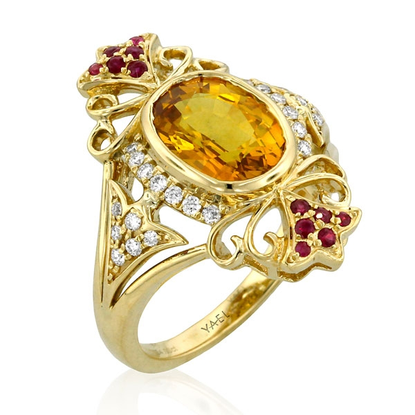 Yael Designs Imperial yellow sapphire ring