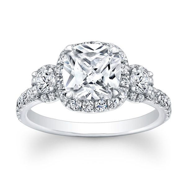 Ronelli cushion-cut diamond engagement ring