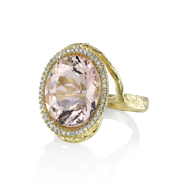 Denise James Stardrop morganite ring