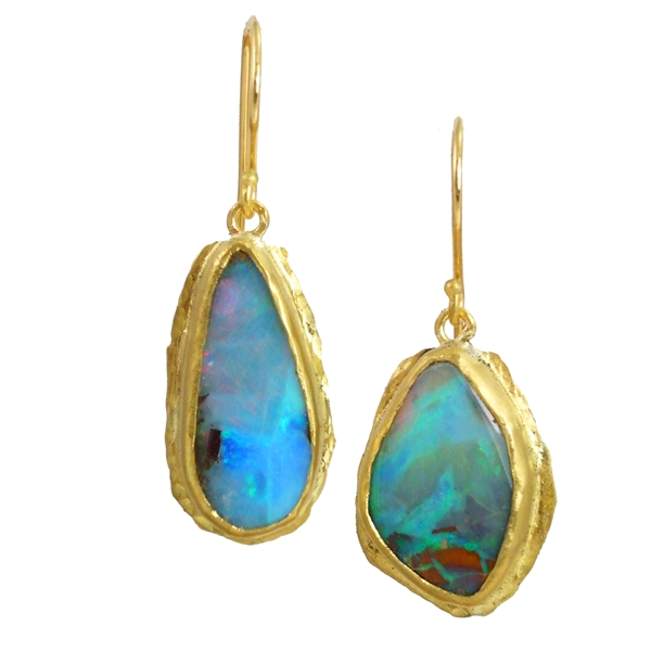 Margery Hirschey one of a kind opal earrings