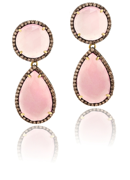 Sabrina Designs Pretty in Pink chalcedony earrings