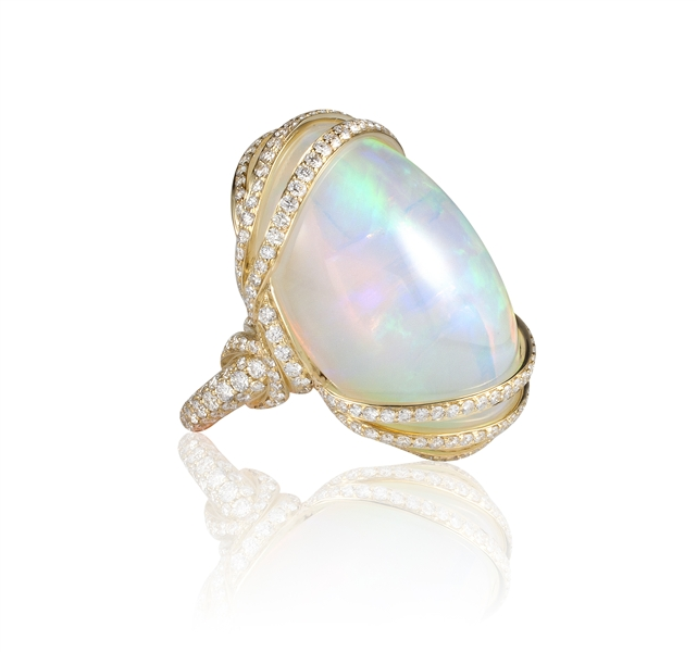 Goshwara G-One opal diamond wrap ring