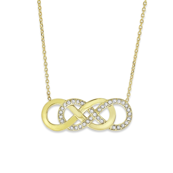 KC Designs double infinity necklace