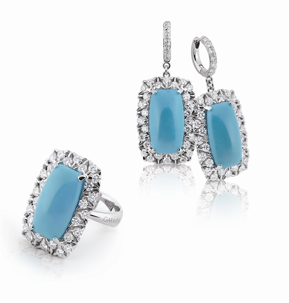 Garavelli turquoise Coil on the Rocks collection