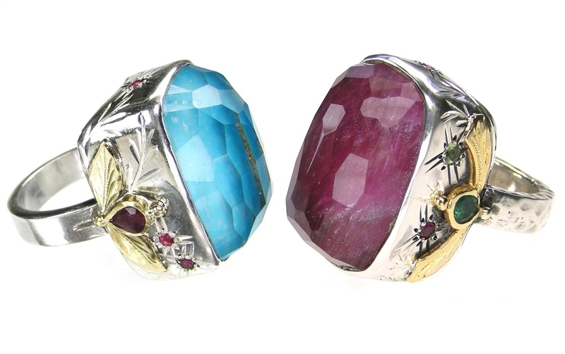 Evangelatos one-of-a-kind gemstone rings