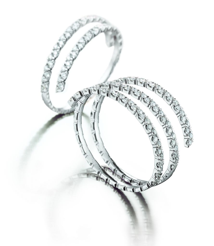 Garavelli Coil diamond rings