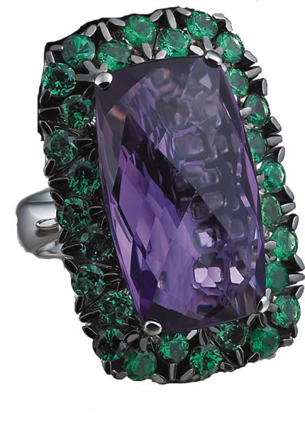 Garavelli Coil on the Rocks amethyst ring