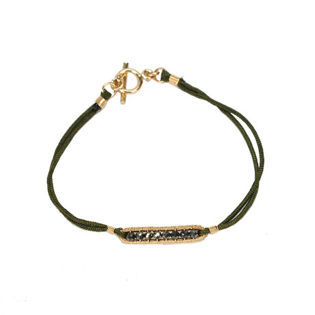 Dana Kellin bracelet with pyrite and 14k gold fill