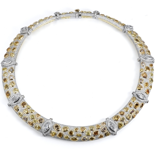Beaudry diamond collar necklace