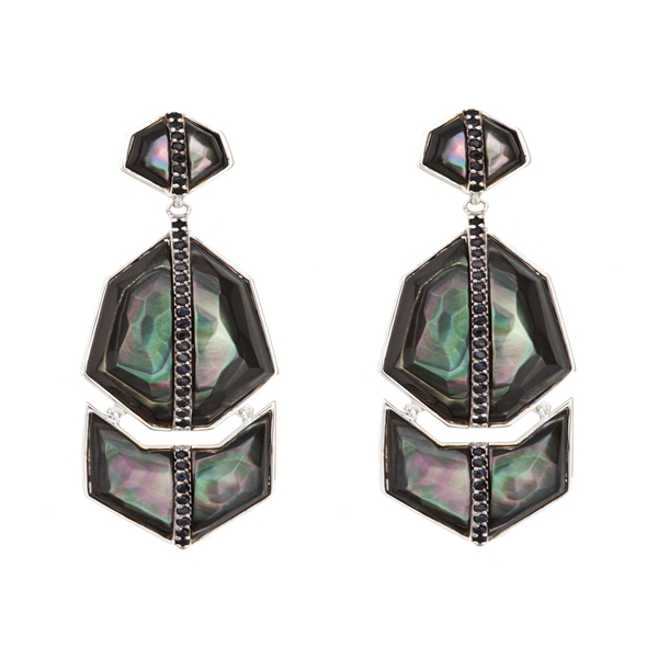 Kara Ross triple Geo Arrow earrings