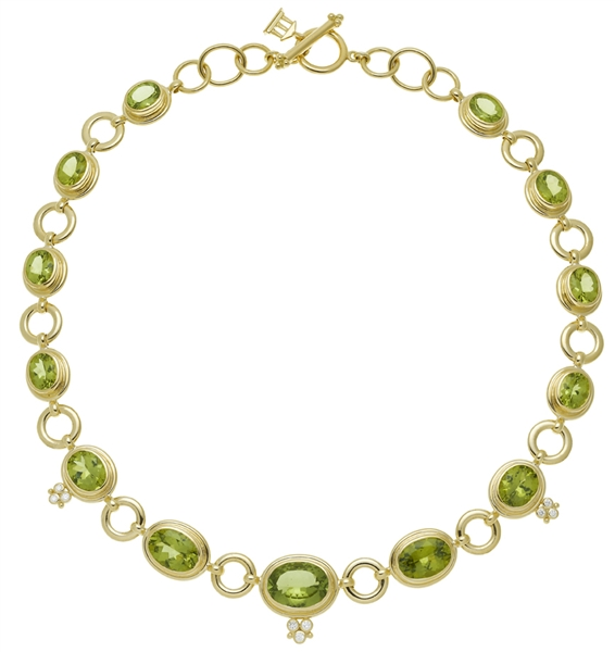 Temple St. Clair peridot classic link necklace