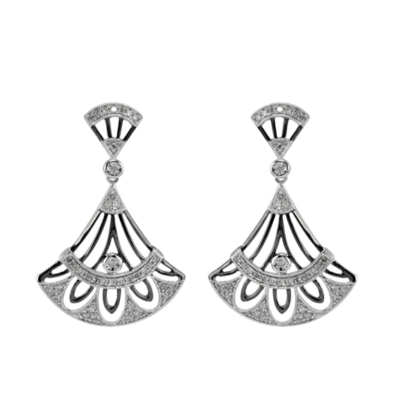99 Jewelry Deco-style fan earrings