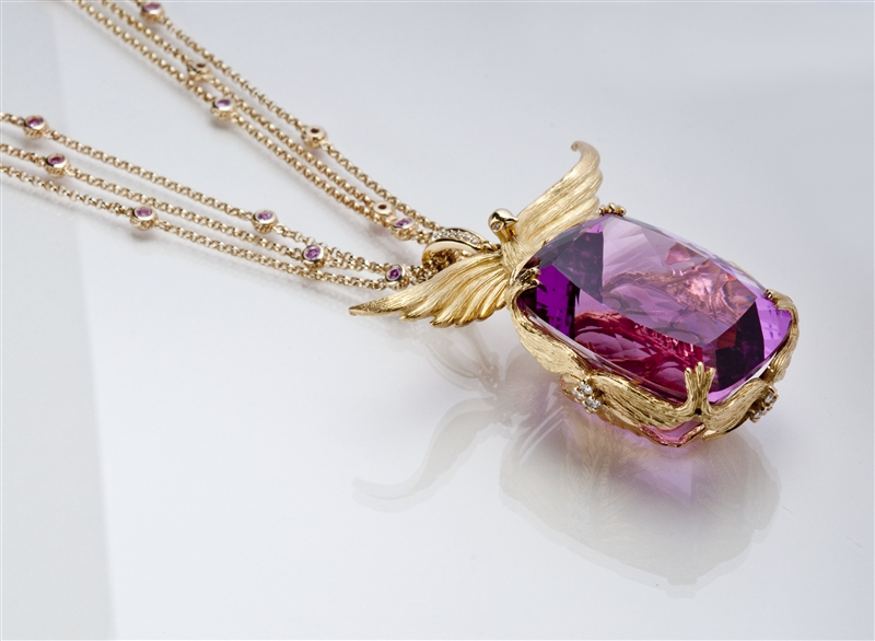 Loretta Castoro Love Doves kunzite necklace