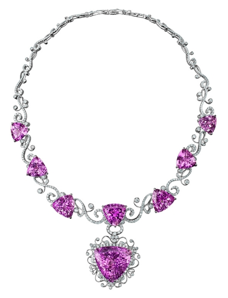 ENZO kunzite and diamond necklace