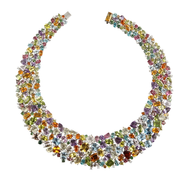 EZO Paon collection multicolor gemstone collar