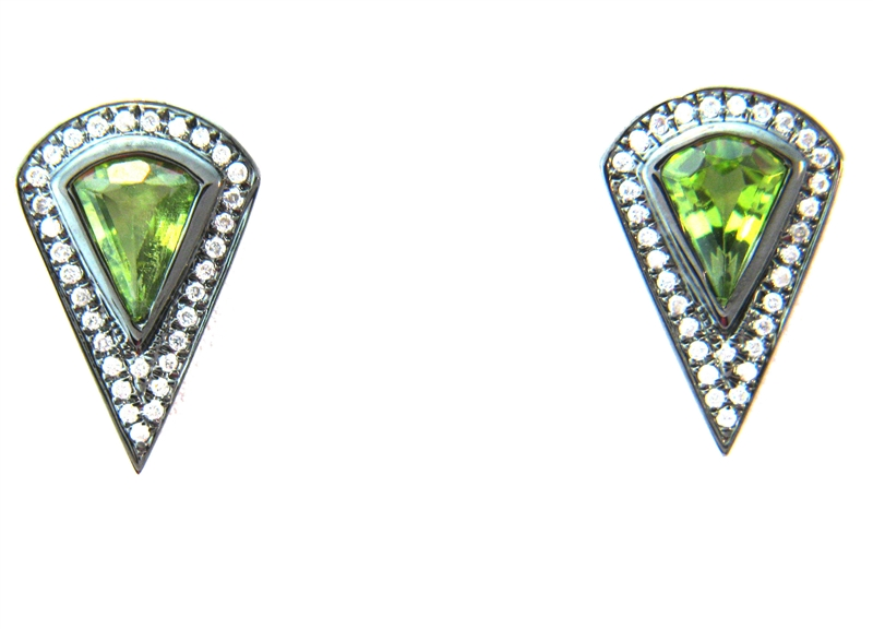 Sethi Couture Mayson collection peridot earrings