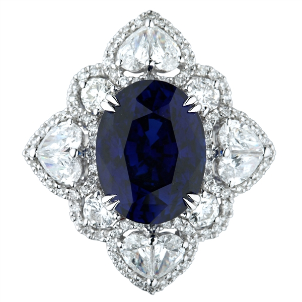 Nelson Jewellery sapphire and diamond ring