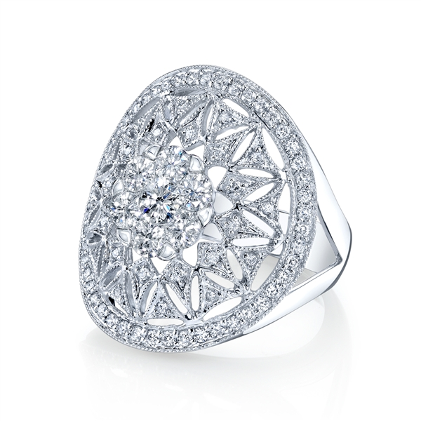 Coronet Solitaire Kneph diamond ring