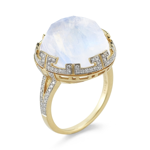 Ivanka Trump Patras rainbow moonstone ring