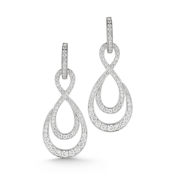 Ivanka Trump Aberdeen woven pave diamond earrings