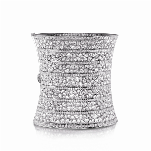 B.A. Gold diamond statement cuff bracelet