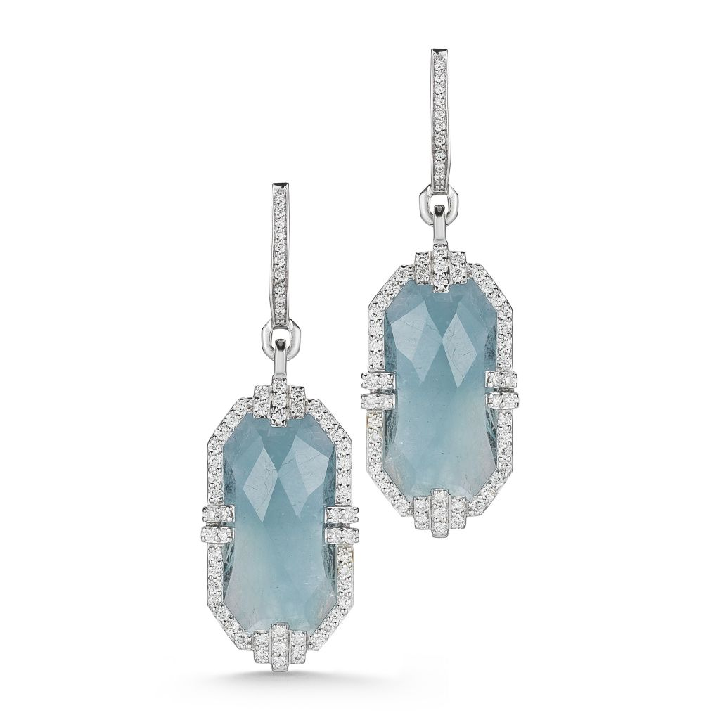 Ivanka Trump aquamarine Patras earrings