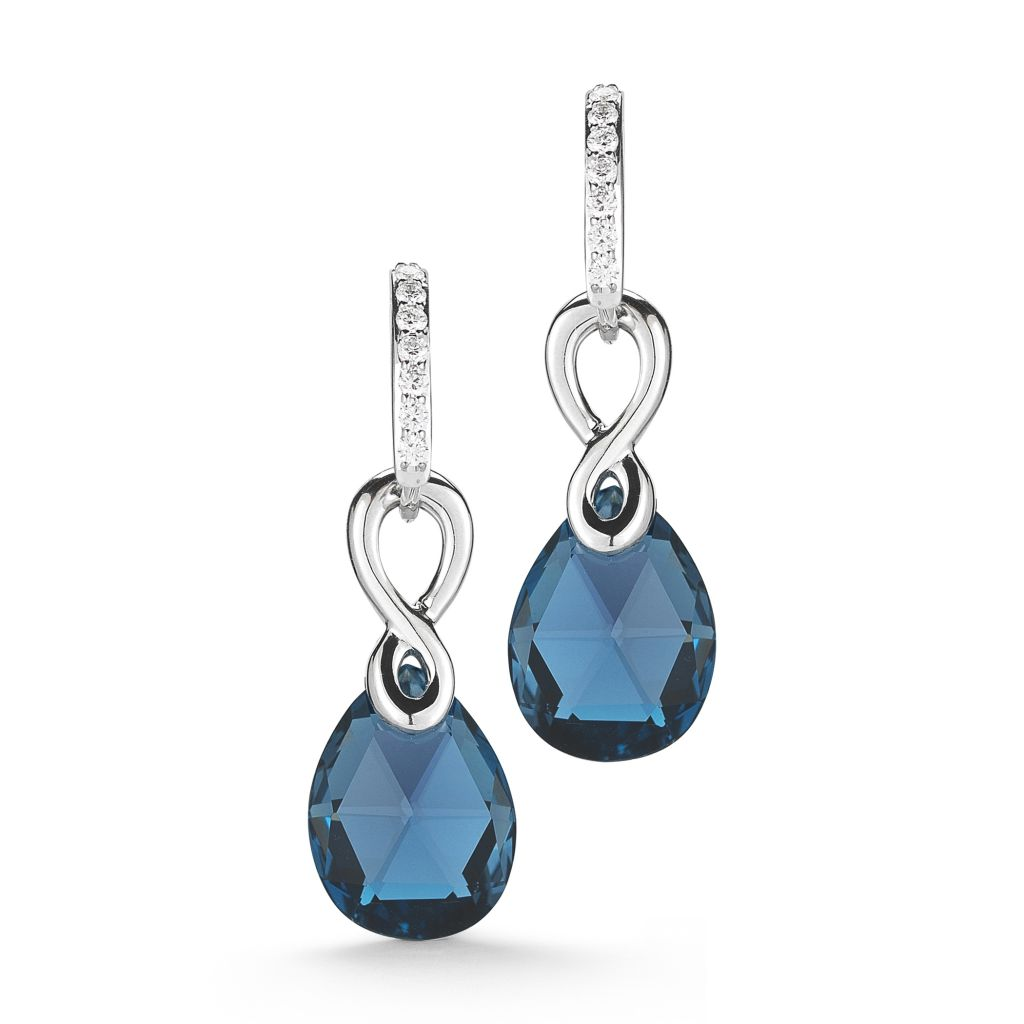 Ivanka Trump Aberdeen London blue topaz earrings