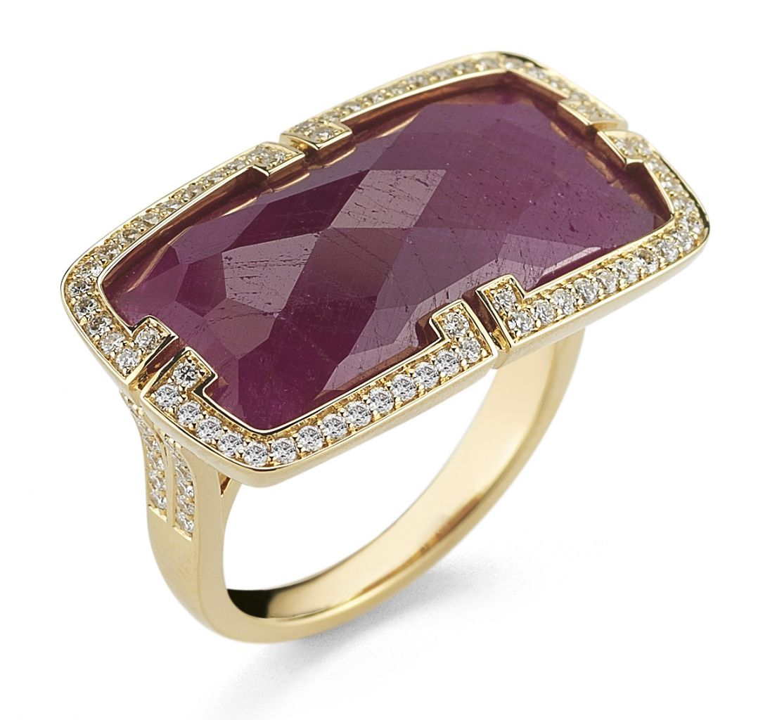 Ivanka Trump Patras African ruby ring