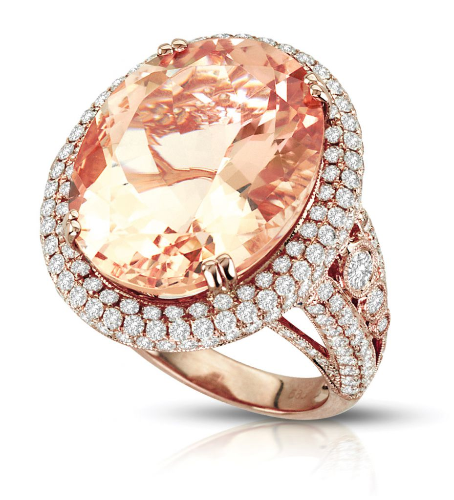 iZi Creations morganite cocktail ring