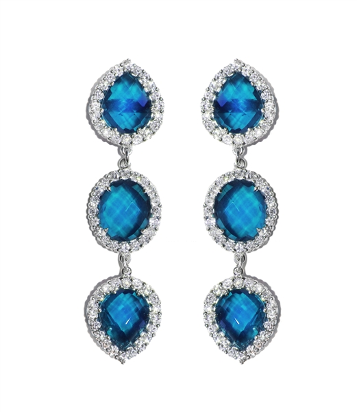 Anzie Royale London blue topaz drop earrings