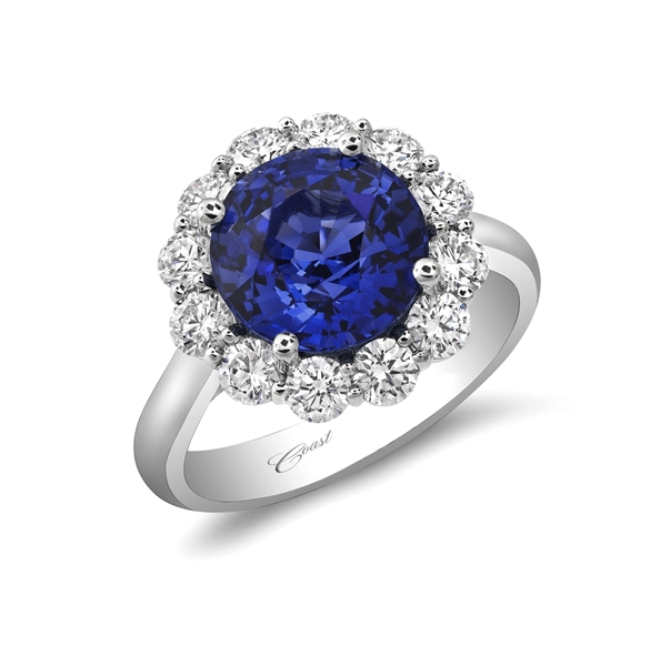 Coast Diamond halo sapphire statement ring