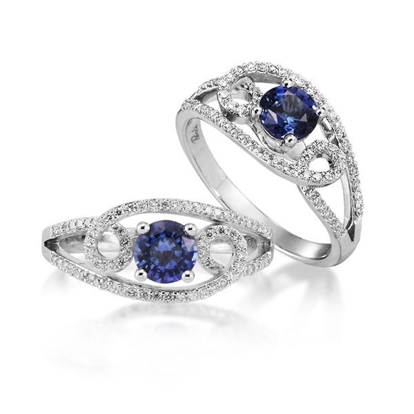 Parle Jewelry Designs Galaxy sapphire engagement ring