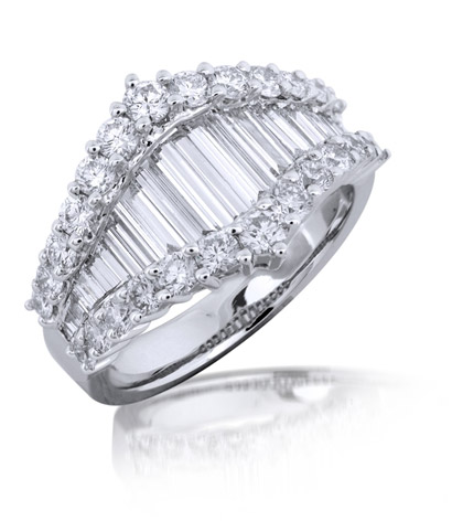 Mira Style tapered baguette diamond ring