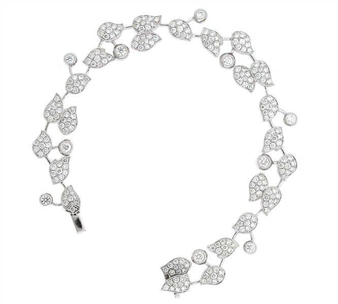 Supreme Jewelry platinum diamond bracelet