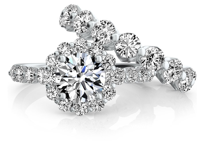 Sasha Primak Royal Prong diamond engagement set