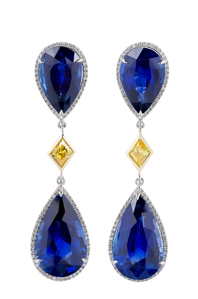 Miiori NY natural sapphire drop earrings