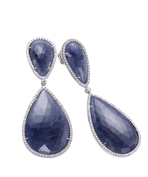 Dilamani Designs sapphire slice earrings