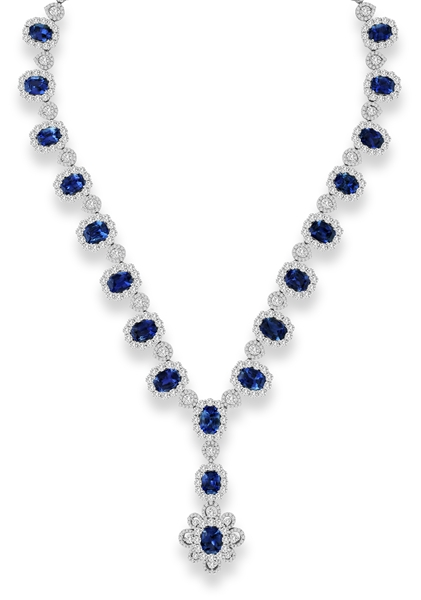 Jewels by Jacob sapphire and diamond necklace