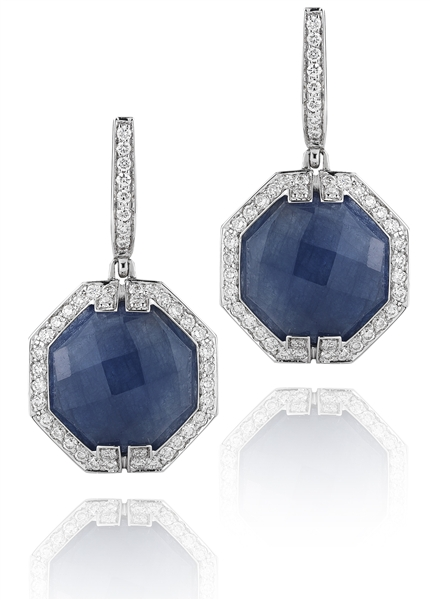 Ivanka Trump Patras blue sapphire earrings
