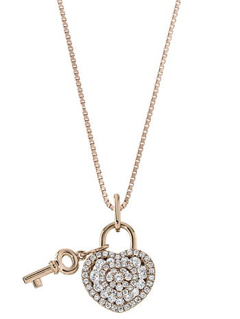 Memoire Lover's Lock diamond pendant