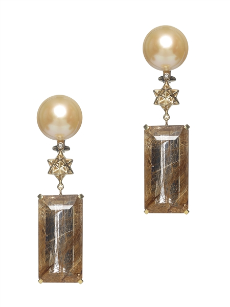 Bibi van der Velden Art Deco drop earrings