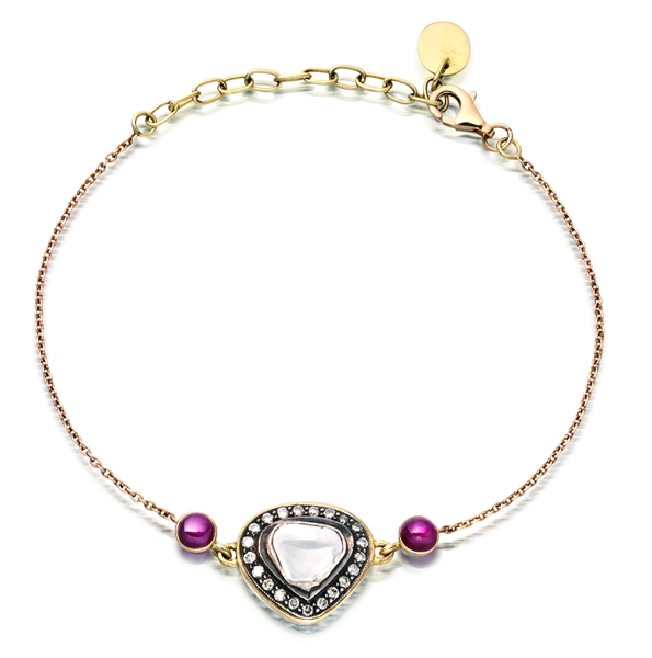 Amrapali Soul Bazaar diamond and ruby bracelet