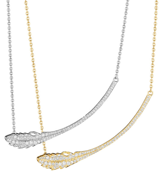 Mimi So pave diamond Phoenix necklace