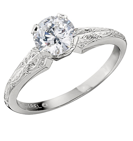 Jabel Medieval solitaire engagement ring