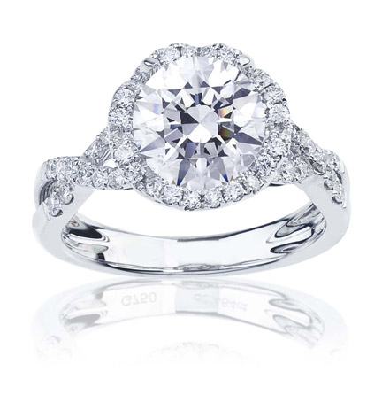 Imagine Designs pave infinity halo engagement ring