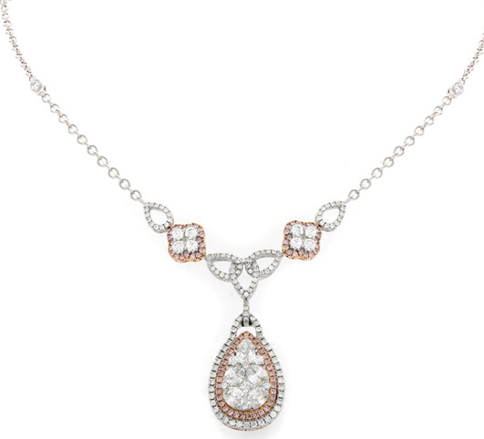 Gregg Ruth Tessera diamond drop necklace