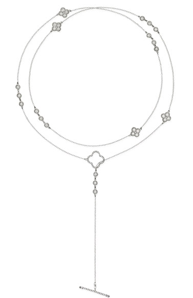 Beny Sofer infinity diamond clover-shape necklace