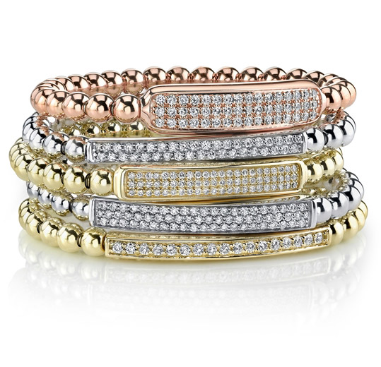 Aspery & Guldag diamond ID stretch bracelets