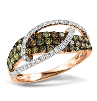Asher Jewelry brown diamond wave ring