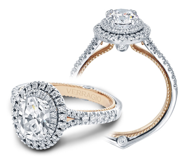 Verragio Couture oval diamond engagement ring